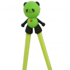 "Training Chopsticks 7""L - Green Panda"