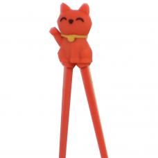 "Training Chopsticks 7""L - Red Cat"