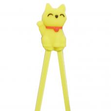 "Training Chopsticks 7""L - Yellow Cat"